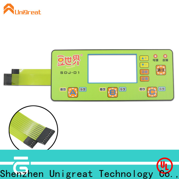 Unigreat membrane keypad directly sale for smart home appliances