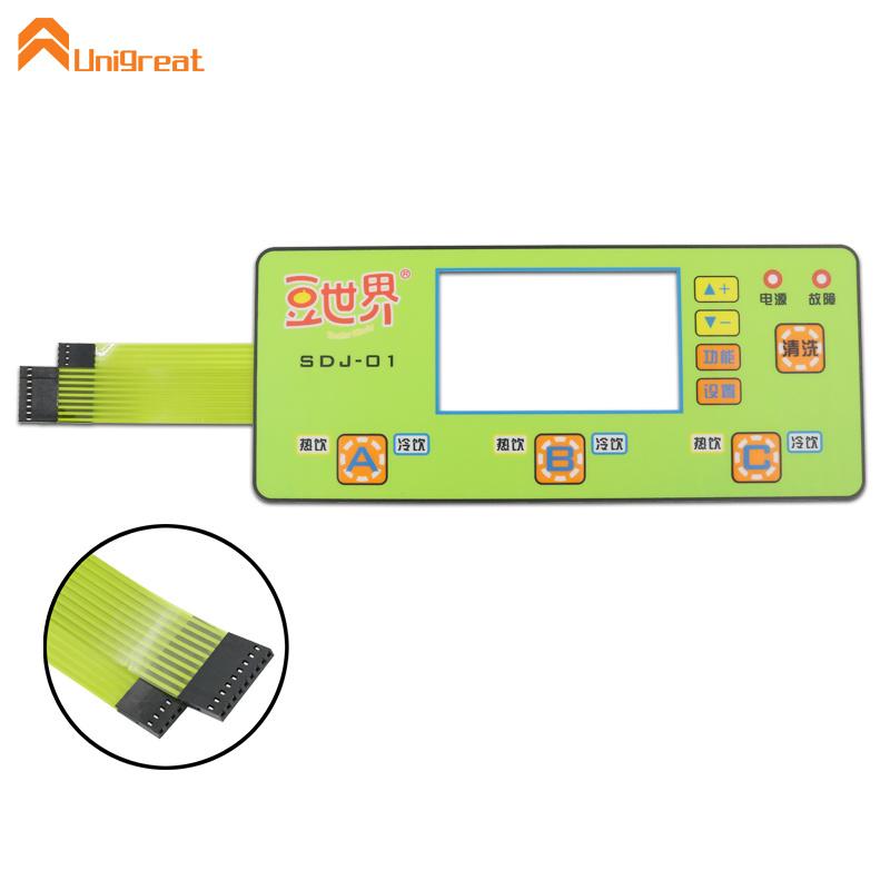 Waterproof custom tactile push button led membrane keypad switch