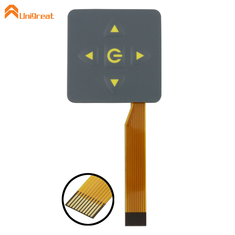 Shenzhen factory glossy copper-foil FPC membrane switch keypad