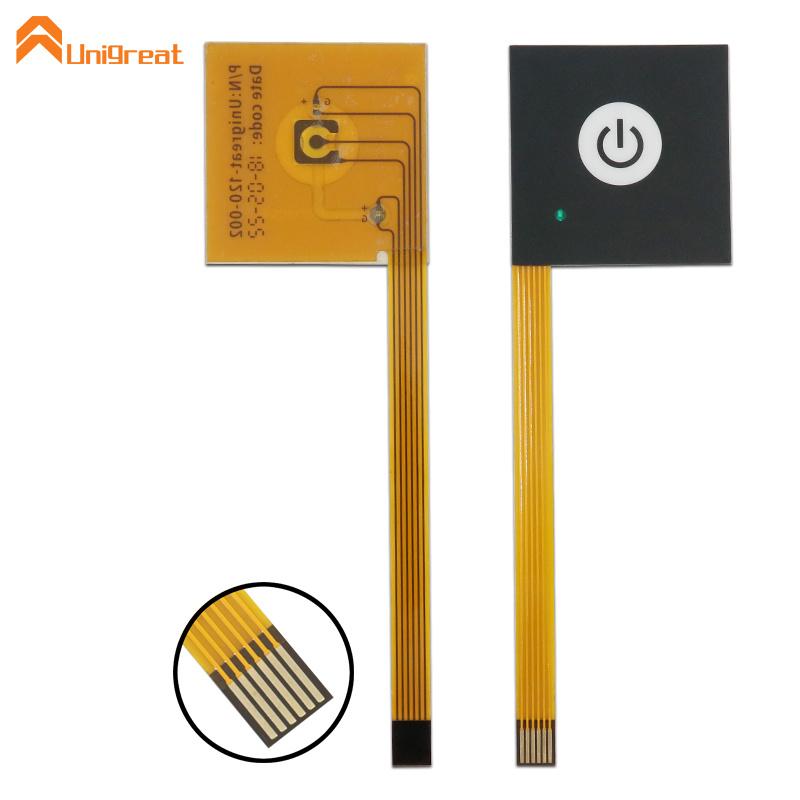 Custom anti uv XEF150 metal dome membrane switch
