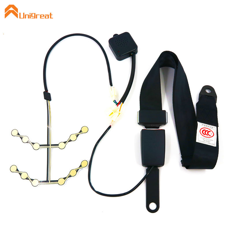 School bus seat alarm system with pressure sensor buckle