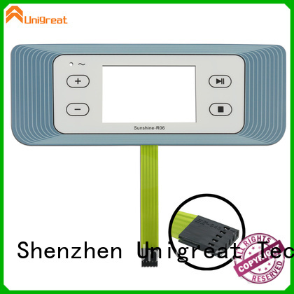 Unigreat long lasting custom membrane switches directly sale for smart home appliances